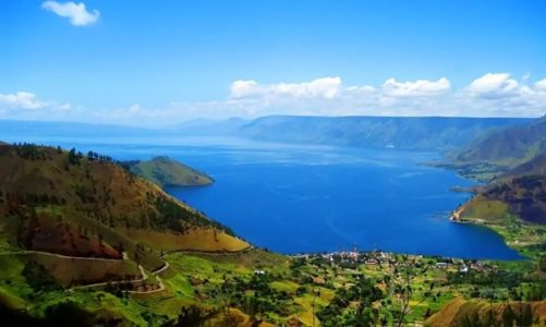 Lake Toba, a Large Crater Created by a Powerful Volcanic Eruption